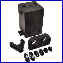 3L Aluminum Black high flow Fuel Surge Tank Kit + 2x Dual 044 Fuel Pump external