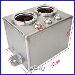 3L Aluminum Swirl Fuel Surge Tank + 2 PCS High Flow 044 External Dual Fuel Pump