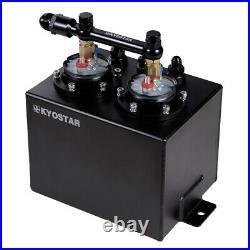 3L Universal Fuel Oil Swirl Surge Pot Tank AN10 Fuel Rail For Dual 044 Fuel Pump