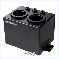 3L Universal High flow Fuel Swirl Surge Pot Tank AN10 Oil Rail For Dual 044 Pump