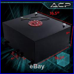 40L / 10 Gallons Black with Red Cap Fuel Cell Tank + Braided Oil Line 10AN Fitting