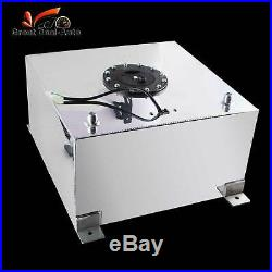 40litre 10 Gallon Aluminum Racing Fuel Cell Gas Tank with Level Sender Universal