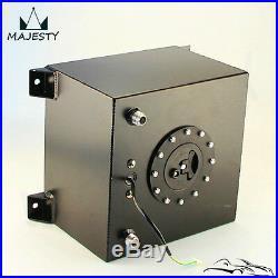 5 Gallon 18.8L Black Coated Aluminum Racing Drift Fuel Cell Tank + Level Sender