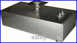 6 Gallon Square Aluminium JIC Fuel Tank with Splash Bowl Race OBPFTSBJIC005