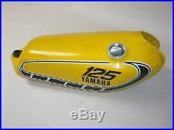 76 Yamaha Yz125 Yz 125 C Oem Aluminum Yellow Fuel Gas Tank Excellent