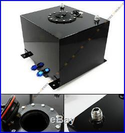 8 GALLON 30.5L BLACK ALUMINUM RACING/DRIFT FUEL CELL GAS TANK With LEVEL SENDER