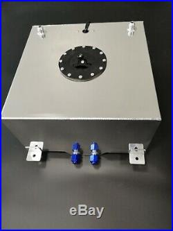 8 Gallon Aluminum Fuel Cell 30L Litre Fuel Tank + Sender & Internal Foam Layer