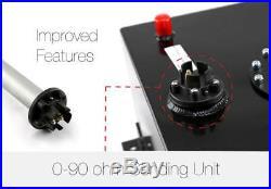 8 Gallon Lightweight Black Aluminum Fuel Cell Tank Sending Unit -10AN Outlet