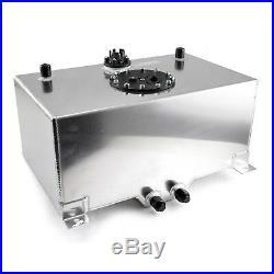 8 Gallon Lightweight Vented Aluminum Fuel Cell Tank Sending Unit -10AN Outlet