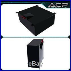 80 Liter / 21 Gallon Black Aluminum Fuel Cell Tank With Gauge Sender Red Cap