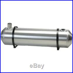 8X33 Spun Aluminum Gas Tank 7 Gallons With Remote Fill And Sending Unit Flange