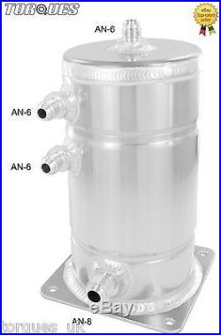 AN-6 (-6 AN) / AN-8 (-8 AN) JIC 1.5 Litre Aluminium Alloy Fuel Swirl Pot Tank