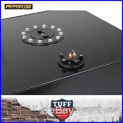 Aeroflow 57lt Anodized Black Baffled Fuel Cell with Sump & Sender AF85-2150ASBLK