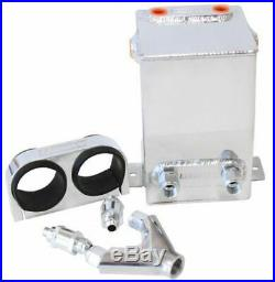 Aeroflow AF77-2044 Dual Fuel Pump Surge Tank Kit Polished 3.1L Capacity