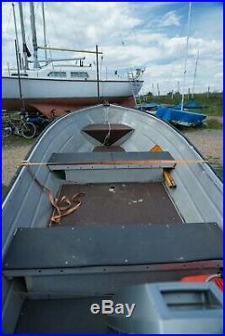 Aluminium boat + Mariner 15hp 2 stroke outboard + fuel tank + Road trailer