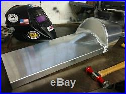 Aluminum motorcycle Racing seat, with hump for rear fender, made in USA