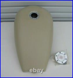 BATTISTINIS ALUMINUM 2 STRETCH GAS TANK 86-99 HARLEY SOFTAIL 4.1G With FLUSH CAP