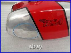 BSA B25T B50T B50MX B25 B50 ALLOY FUEL GAS PETROL TANK With PETCOCKS AND CAP OEM
