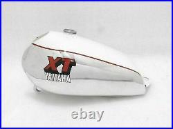 Benzin Petrol Gas Tank Weiß & Chrom Bemalt Alloy / Aluminium Yamaha XT500