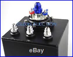 Black AEM 50-1005 380LPH -8 an8 8an 6an -6 an6 Fuel Pump 2L surge tank 044 bosch