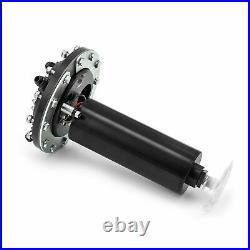 Black Anodized Billet Aluminum In Tank Single Fuel Pump Fuel Cell EFI