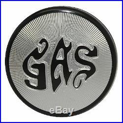 Black Gas Letter Fuel Tank Cap for Harley Davidson Sportster Shovelhead 73-82