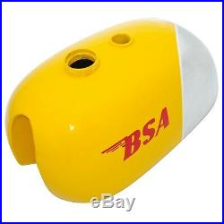 Bsa B25 B40 B44 C15 Victor Enduro Aluminum / Alloy Yellow Fuel Tank