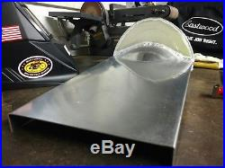 Cafe racer aluminum motorcycle seat, with hump for rear fender, made in USA