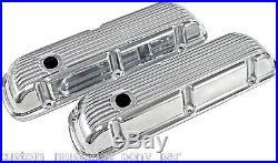 Cal Custom Finned Aluminium Rocker Valve Covers 289 302 351 Windsor Ford Mustang