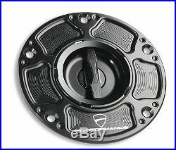 Ducati 899 959 1199 1299 Panigale Tankverschluss Aluminium Schwarz fuel tank cup