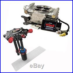 FiTech Go EFI 4 Fuel System Kit withHy-Fuel Tank, 600 HP, Aluminum