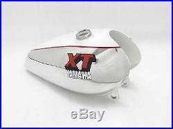 Fit For YAMAHA XT500 ALLOY ALUMINIUM WHITE PAINTED PETROL TANK 1980'S MODEL
