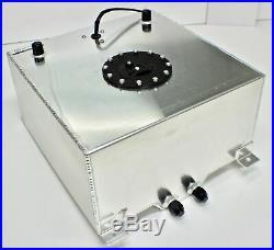 Fuel Cell 30 Litres 5 Gallon Aluminium + Fuel Sender Dash 10 Fittings