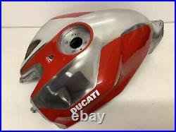 Genuine Ducati 1199 1299 Panigale Red Aluminium Petrol Gas Fuel Tank
