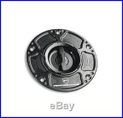 Genuine Ducati Billet Aluminium Keyless Fuel Petrol Tank Cap Track/Racing