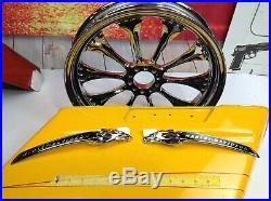 Genuine Harley CVO Dyna Eagle Head Fuel Gas Tank Set Emblems Badges