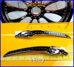 Genuine Harley CVO Softail Eagle Head Fuel Gas Tank Set Emblems Badges