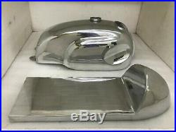 HONDA Cb Xs Manx Style Aluminum Alloy Cafe Racer Fuel Tank + Seat Hood(Fits For)