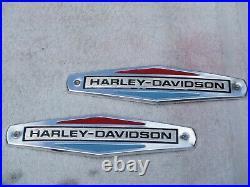 Harley-Davidson FLH, XLH Sparkling America Fuel Tank Emblems OEM