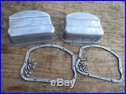 Harley Davidson Panhead Oem Original Aluminium Valve Covers With Thin D-rings