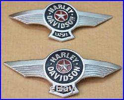 Harley original Benzintank Emblem Fuel Tank Medallions Fat Boy