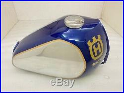 Husqvarna Petrol Blue Painted Aluminium Tank With Cap 1982 -1983 Fit For