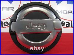 JEEP WRANGLER (JL) Cast Aluminum Fuel Door With JEEP Grille Logo NEW OEM MOPAR