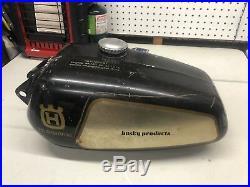 Late 1970s Husqvarna Motorcycle Husky Alloy Aluminum Gas Fuel Tank 175 250