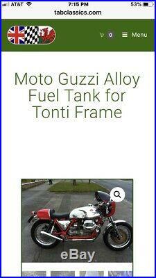 Moto guzzi Lemans Tonti Handformed Aluminum Tank