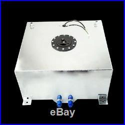 NEW Aluminium Fuel Surge tank with sensor Fuel cell 60L with Cap/ foam inside