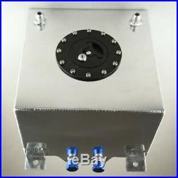 New Universal 20L / 5 Gallon Fuel Cell Tank Lightweight Aluminum + Safety Foam