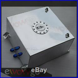 Non Sensor Aluminum 40L /10 Gallon Fuel Cell Tank AN10 In/Outlet UK SHIPPING