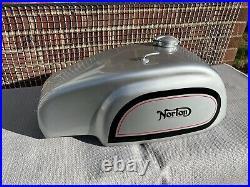 Norton Commando Manx style silver painted aluminium petrol tank