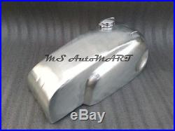 Norton Manx Wideline Featherbed Cafe Racer Raw Aluminium Fuel Tank With Monza